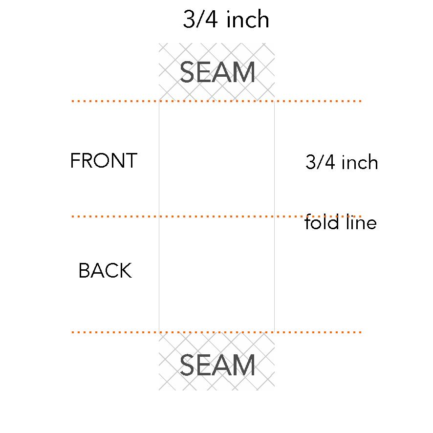 3/4 x 3/4 inch