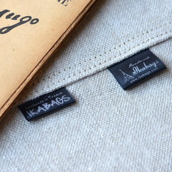 black satin labels
