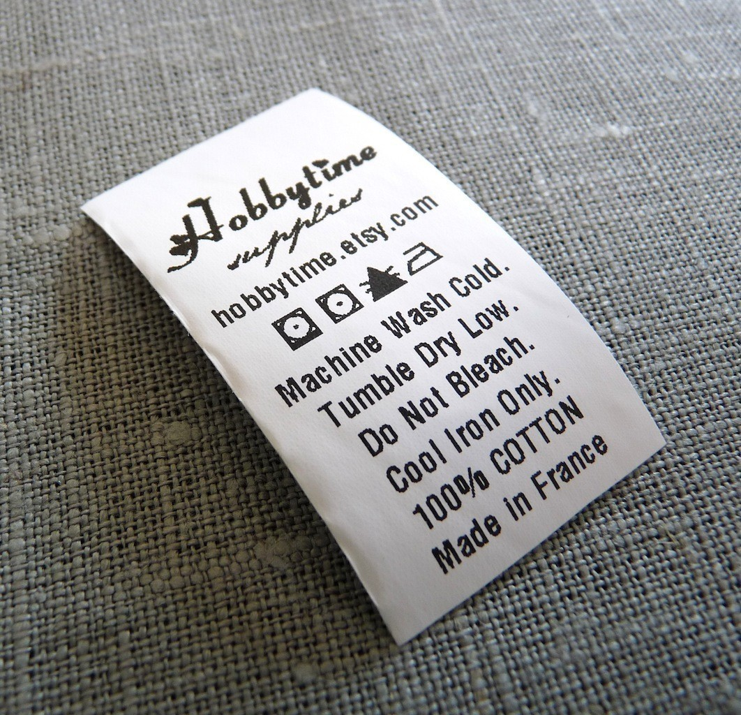 Custom Care Labels 1 2 White Polyamide Ikaprint